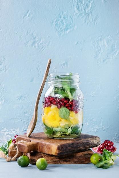 Premium Photo Fruit Salad In Mason Jar