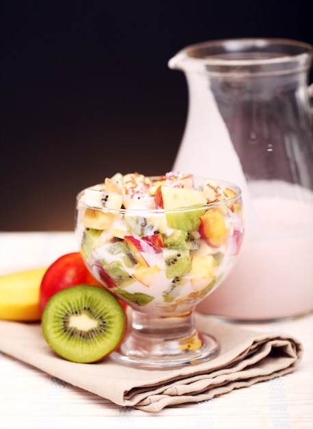 Фруктовый салат с йогуртом Бесплатные Фотографии