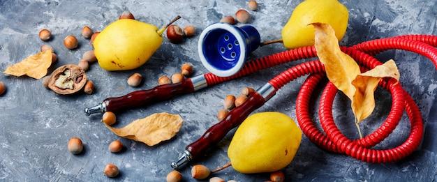 Fruit with hookah Premium Photo