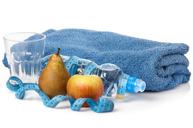 Fruits and water Premium Photo