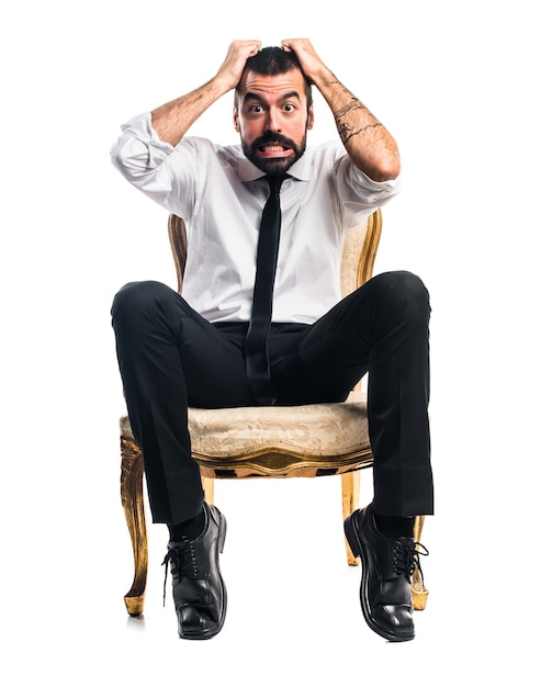 Frustrated businessman Free Photo