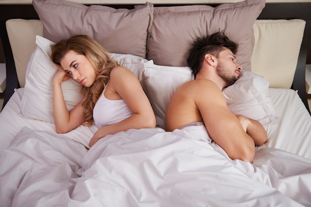 Frustrated couple with serious problems Free Photo