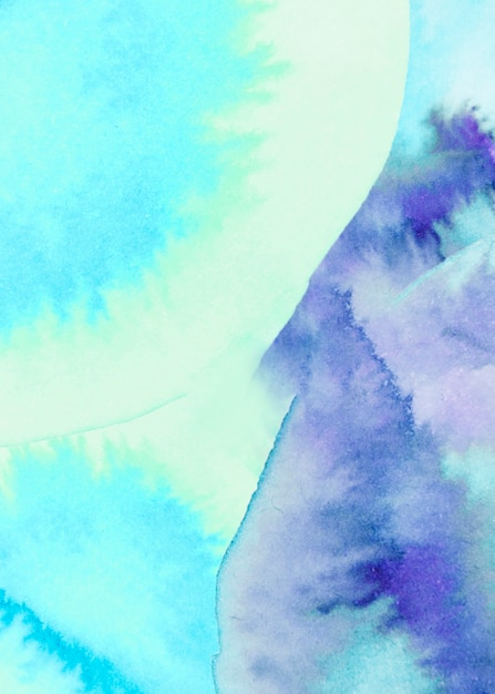 Full frame of mixed blue watercolor textured backdrop Free Photo