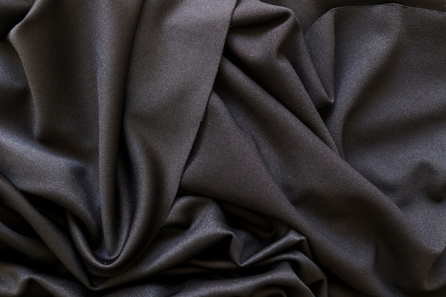 Full frame shot of smooth black fabric Free Photo