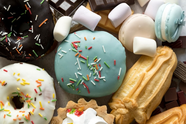 Full frame of various confectionery food Free Photo