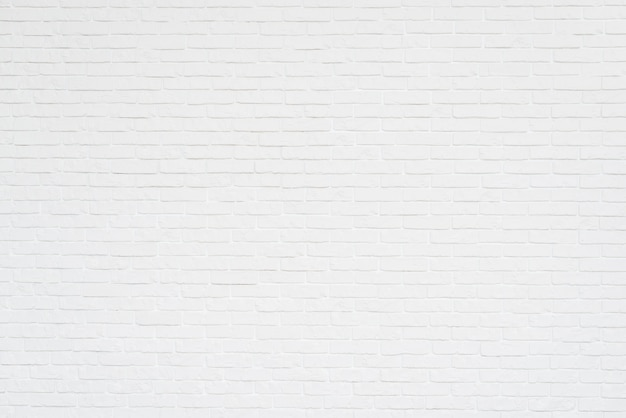Full frame of white brick wall Free Photo
