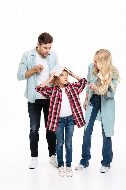 Full length portrait of a family having and argument Free Photo