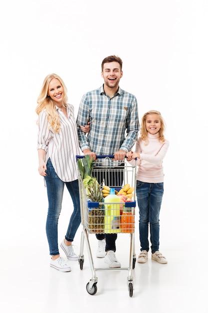 Ritratto integrale di una famiglia felice Foto Gratuite