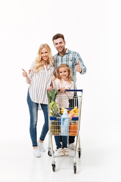 Full length portrait of a happy family Free Photo