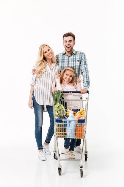 Ritratto integrale di una famiglia adorabile Foto Gratuite
