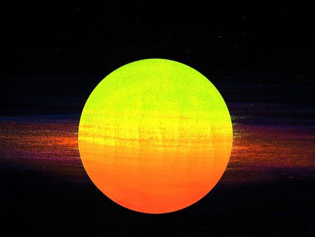 Полнолуние светит ночное небо. Premium Фотографии