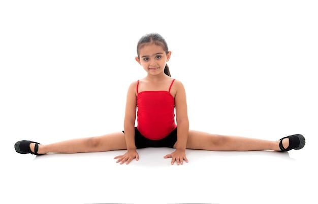 フルスプリット体操少女 Premium写真