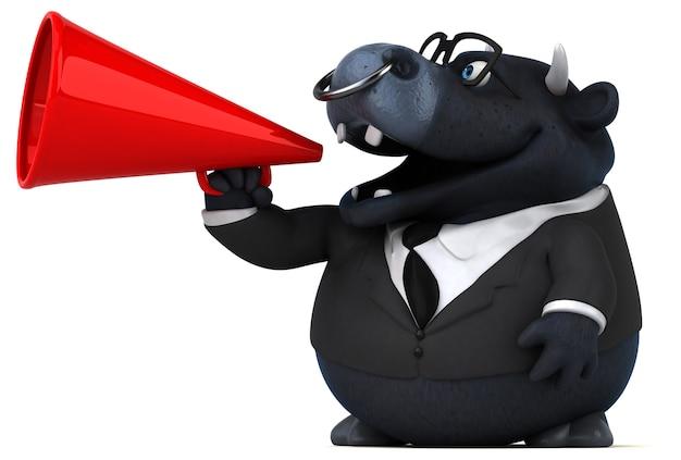 Веселая анимация быка Premium Фотографии