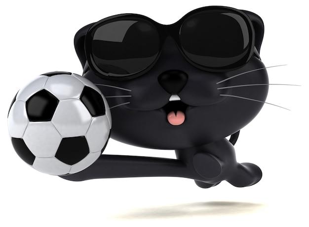 楽しい猫-3dイラスト Premium写真