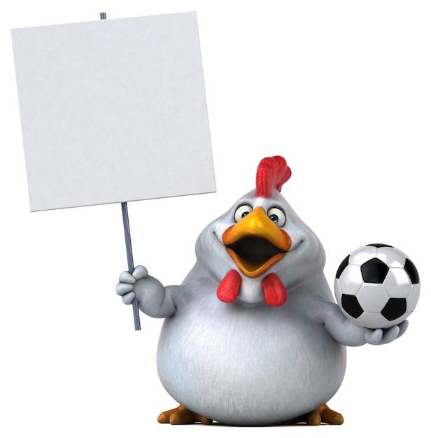 楽しい鶏のイラスト Premium写真