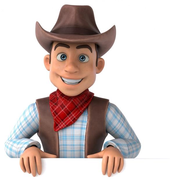 Fun cowboy Premium Photo