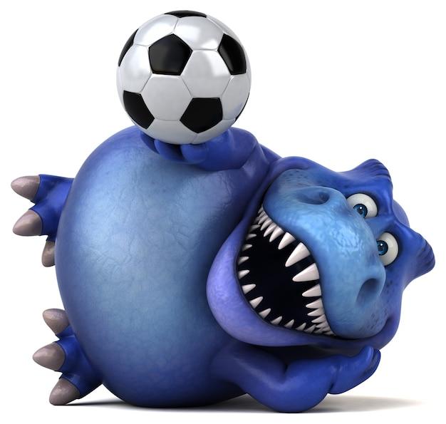 Забавная иллюстрация динозавра Premium Фотографии