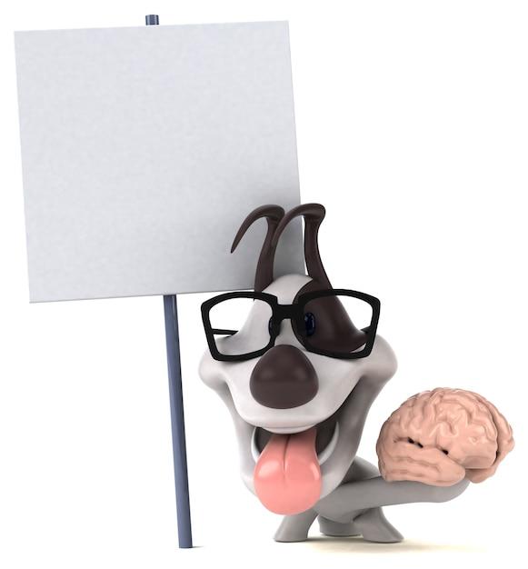 楽しい犬-3dイラスト Premium写真