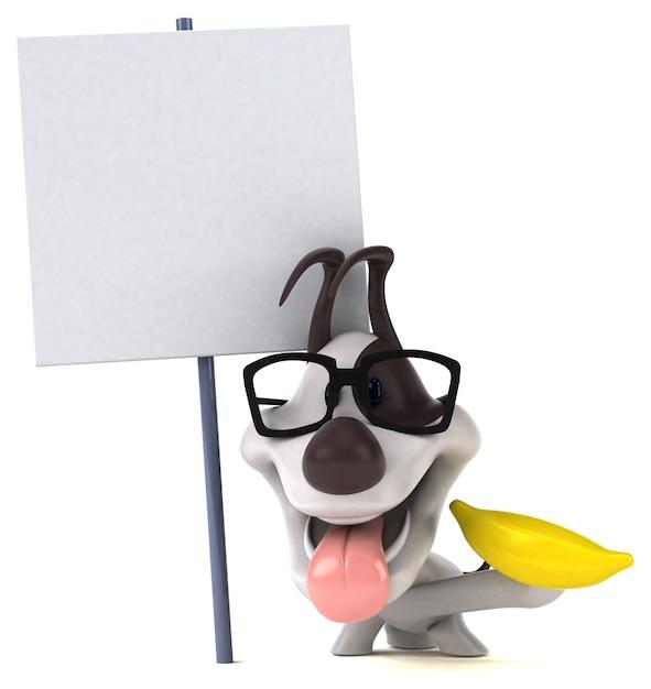 楽しい犬のイラスト Premium写真