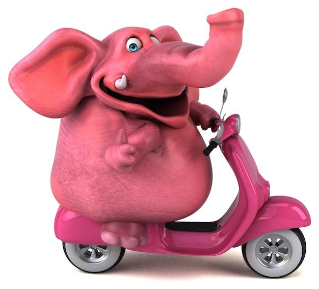 Fun elephant - 3d illustration Premium Photo