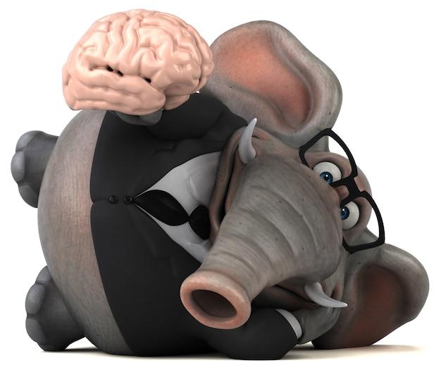 Забавный слон иллюстрация Premium Фотографии