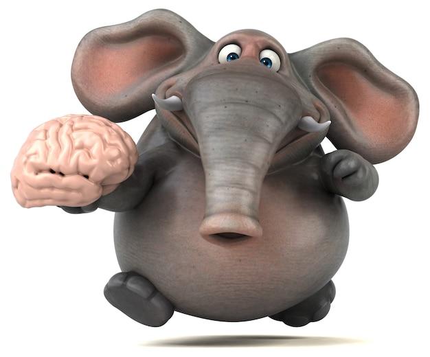 楽しい象のイラスト Premium写真