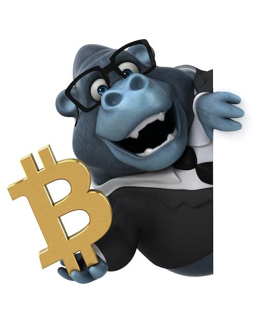 Забавная горилла иллюстрация Premium Фотографии
