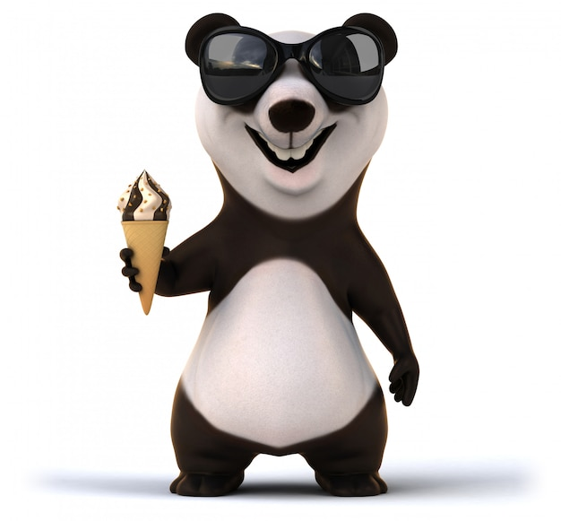 Fun panda animation Premium Photo