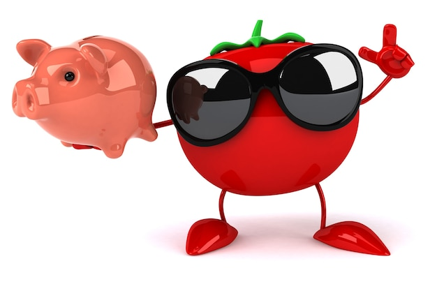 楽しいトマトアニメーション Premium写真