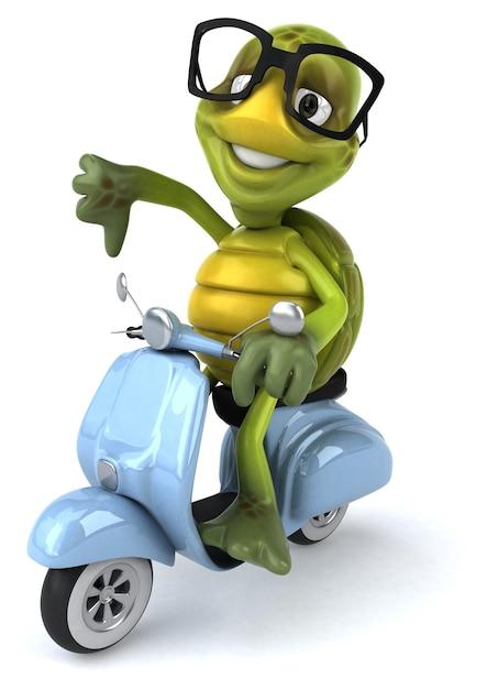 Fun turtle illustration Premium Photo