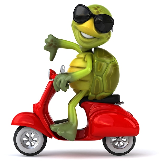 Fun turtle Premium Photo