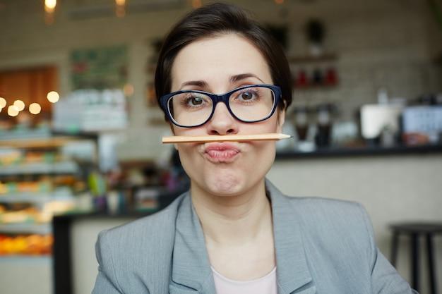 Funny businesswoman Free Photo