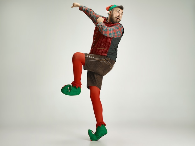 Забавный человек в костюме эльфа Бесплатные Фотографии