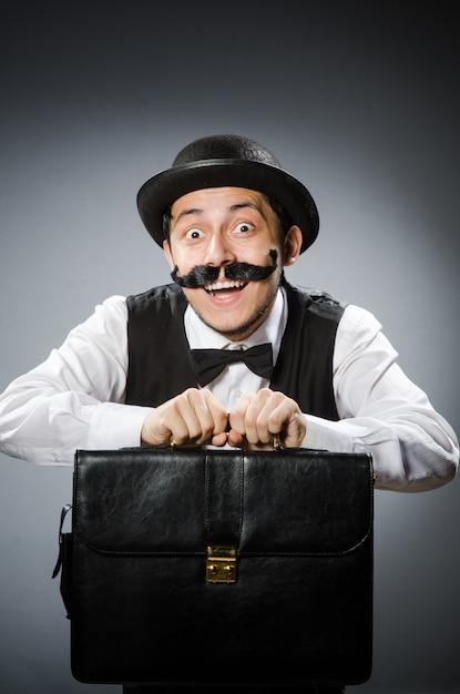 Funny man in vintage concept Premium Photo