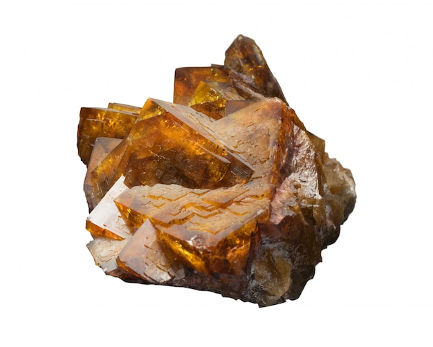 Fuorite or fluorspar is mineral form of calcium fluoride, caf2 Premium Photo