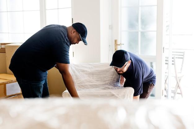 Furniture delivery service concept Premium Photo