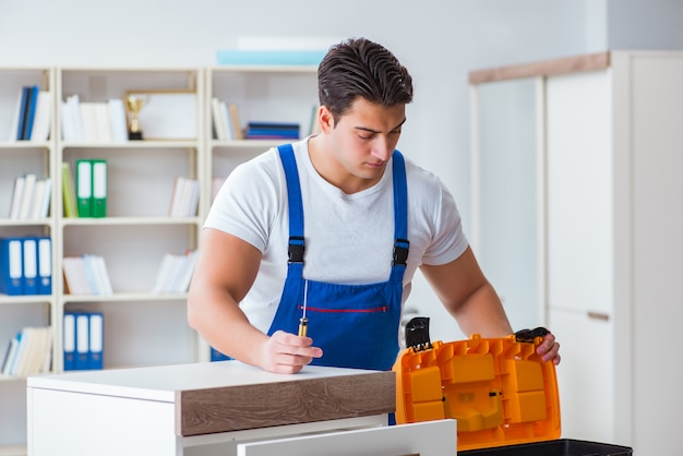 Furniture repair and assembly concept Premium Photo