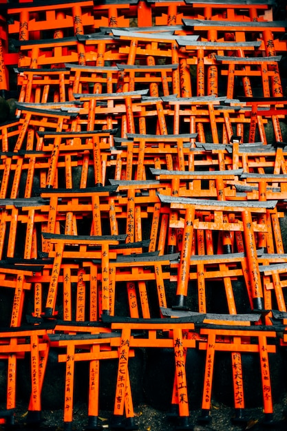 Fushimi inari red torii in japan Free Photo