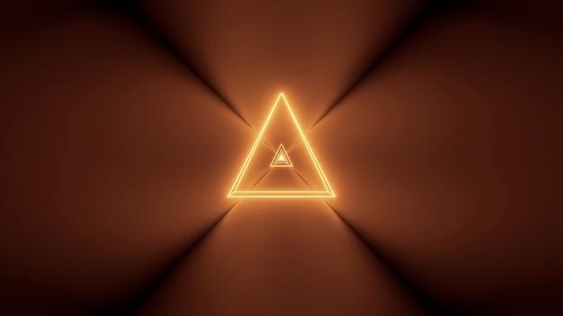 빛나는 추상 네온 불빛과 중앙에 삼각형 모양으로 미래의 배경 무료 사진