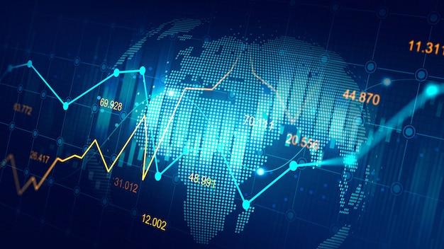 Futuristic concept of global network Premium Photo