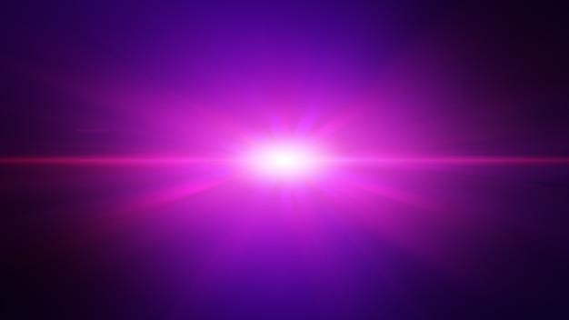 Futuristic pink purple light ray beam explosion, abstract background. Premium Photo