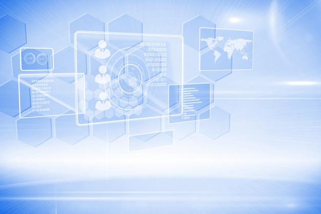 Futuristic technology interface Premium Photo