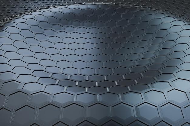 Футуристический волновой образец шестиугольника Premium Фотографии