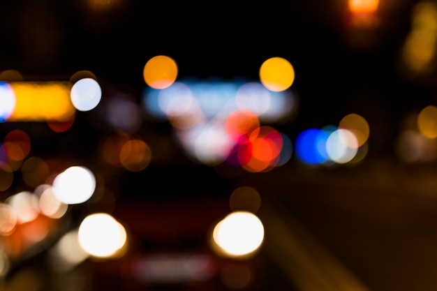 Fuzzy colorful bokeh background with blurred defocused lights Free Photo