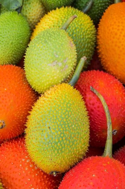 Gac fruit (momordica cochinchinensis) Premium Photo