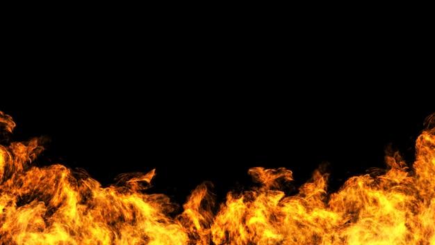 黒gackgroundの火のコンセプトデザイン Premium写真