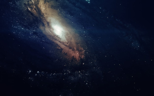 Galaxy in space, beauty of universe, black hole. Premium Photo