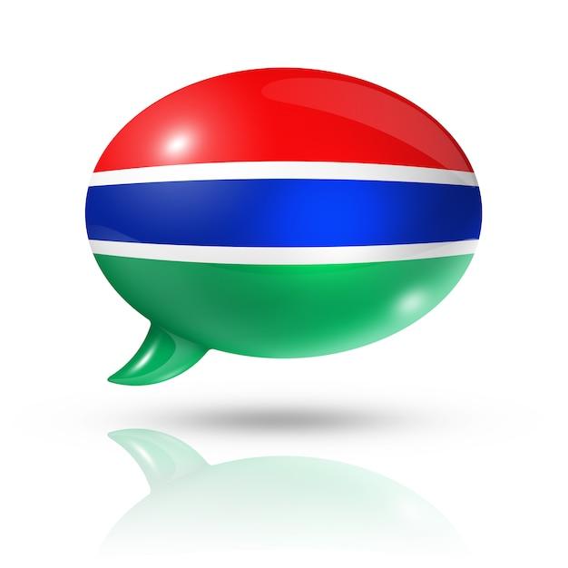Gambian flag speech bubble Premium Photo