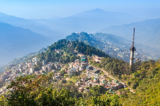Gangtok aerial view Premium Photo