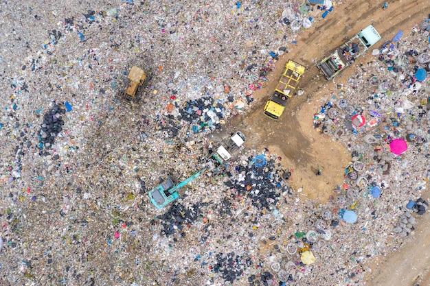 Garbage or waste mountain or landfill Premium Photo